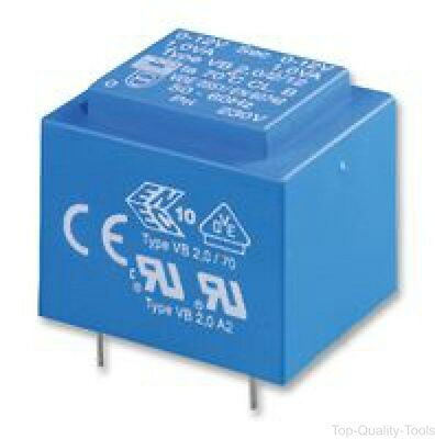 Isolation Transformer, Safety, 1.5 VA, 2 x 115V, 2 x 8V, 94 mA