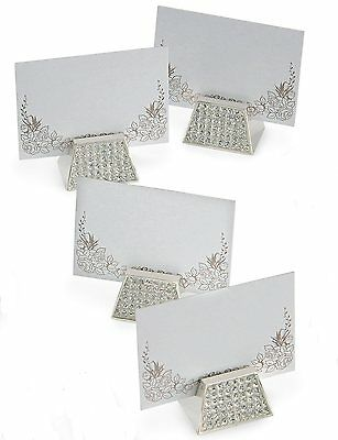 Silver Diamante Table Name Place Card Holders  10245