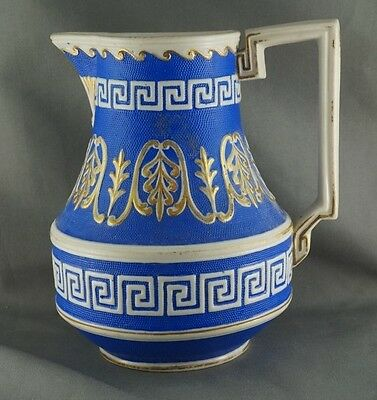 Antique W M Cobridge Nile Water Pitcher Manufactured June 10 1870 Egyptian Style
