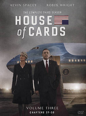 House of Cards ~ Complete 3rd Third Season 3 Three ~ BRAND NEW 4-DISC DVD SET