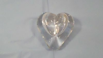 Vintage Handcrafted Lead Crystal Puffed Heart Bud Vase Decor Paperweight