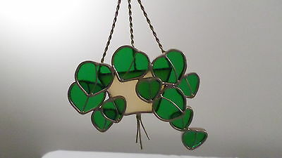 Vintage Tiffany Stained Glass Collectors Society Ivy Basket Suncatcher