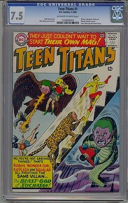 Teen Titans #1 Cgc 7.5 Kid Flash Robin Wonder Girl Aqualad