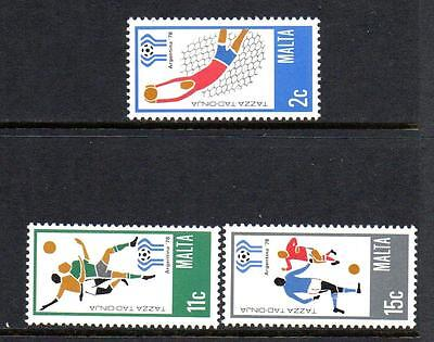 Malta Mnh 1978 Sg601-603 World Cup Football - Argentina Set Of 3