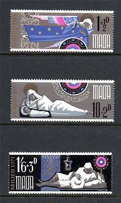 Malta Mnh 1971 Sg460-462 Christmas Set Of 3