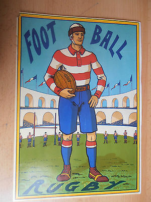 affiche ancienne football - rugby année 1910 / 1920 ( ca1 )