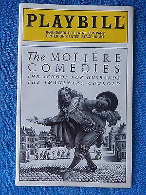 Moliere Comedies - Criterion Theatre Playbill - Opening Night - February 1995