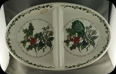 "Portmeirion Holly & Ivy 14.5"" Oval Divided Dish"