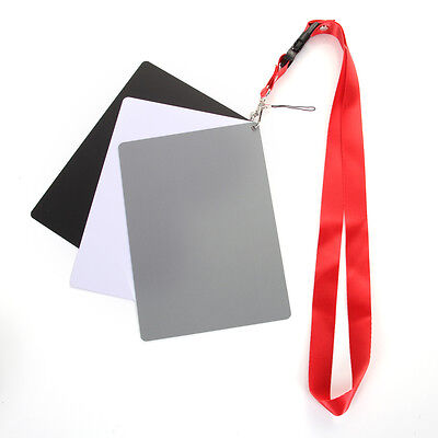3 in 1 Extra Large-Size Digital Grey Black White Balance 18% Gray Exposure Cards