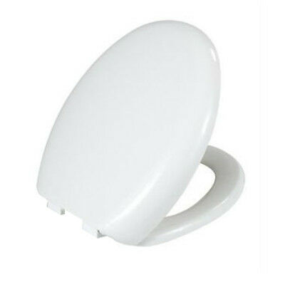 Luxury Soft Slow Close White Oval Toilet Seat Quick  Release Top Fixing