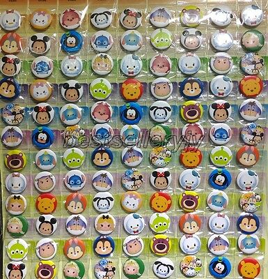 New 108 Pcs 25mm Popular Cartoon Badge Button Pins Children Party Gifts  M-54