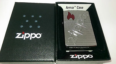 Geniune Armor High Polish Chrome Zippo  Bolted Lighter.  Goldmine Jewellers.