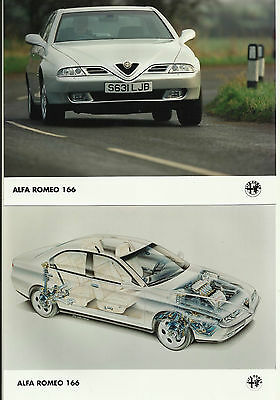 Alfa Romeo 166 Front & Ghost View UK Press Photograph 1998 Mint Condition LJB