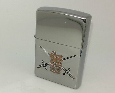 Authentic Zippo British Army Crest Uk Petrol Lighter.   Goldmine Jewellers.