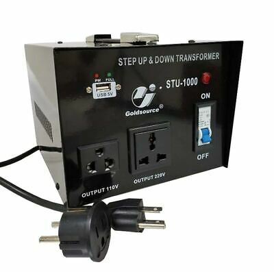 Goldsource 1000 Watt Step Up Down 110V 220V Voltage Converter Transformer