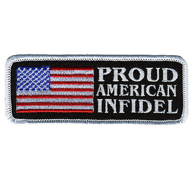 Proud American Infidel Tactical Morale Military Infidel Hook Patch