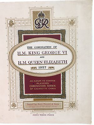 Superb John Player & Sons Coronation Of King George Vi & Queen, Album & Cards