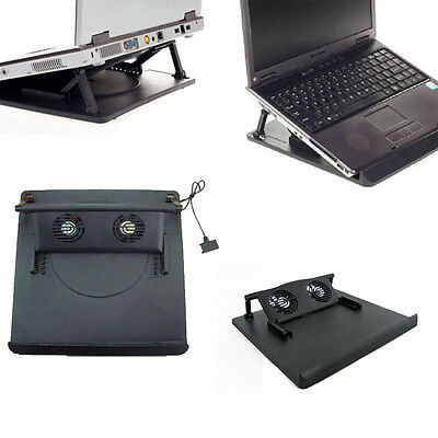 2Fan USB Port Cooling Cooler Pad for 14'15.6'17' Inch Laptops Notebook