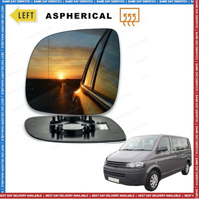 Left side Wide Angle Wing mirror glass for VW Transporter T5 2010-16 Heated