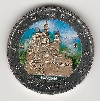 2012 Allemagne - 2 Euro Couleur - Bayern / Baviere N°1