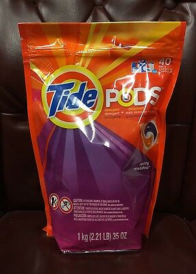 NEW Tide Pods Laundry Detergent Spring Meadow Scent 40 Count HE & Top Load