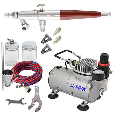 New Paasche VLS AIRBRUSH SET-AIR COMPRESSOR-Auto Paint