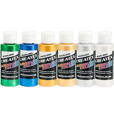 Createx 5804 - 00 PEARL Airbrush Paint 6 COLOR SET Hobby Crafts Paint