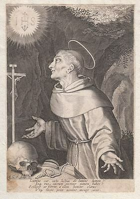 HL. St. SAN BERNARDINO da SIENA - Wonderful Original Engraving