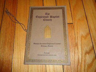 1929 Englewood Baptist Church Annual Directory Chicago