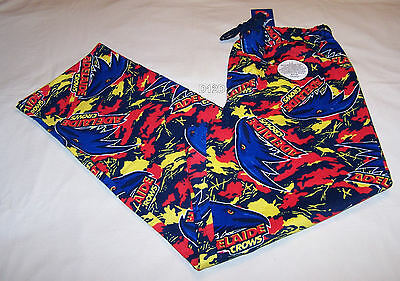 Adelaide Crows Logo AFL Mens Camo Printed Flannel Sleep Pants Size L New