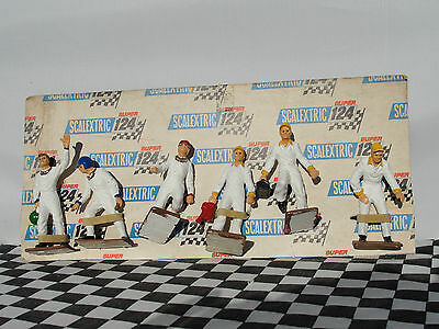 Scalextric Figures X 6 Mechanics And Drivers  1.24  New On Card