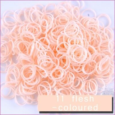 1200 PCS 48 Clips Loom Rainbow Bands Skin Tone Refill Refills - Flesh Coloured