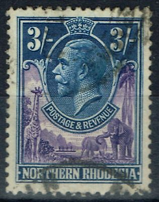 Northern Rhodesia 1925 3s Violet & Blue SG13 Fine Used