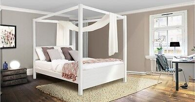 Handmade Wooden Summer Four Poster Bed - By Get Laid Beds