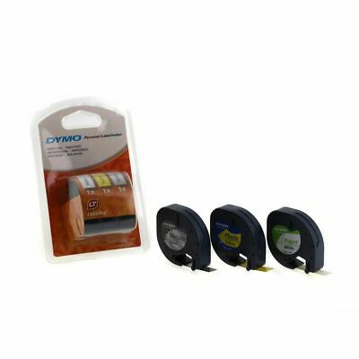 Dymo Letratag Tape 12mm x 4m Pack of 3