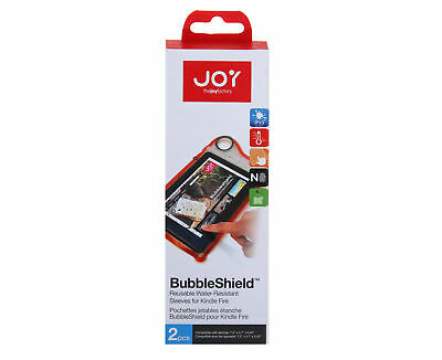 BubbleShield Reuseable Waterproof Sleeves For Kindle Fire Pack of 2