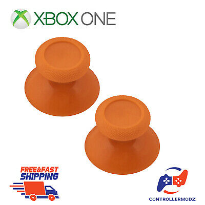 2 x Analogue Replacement Thumb sticks Grips Xbox One Analog Controllers - Orange