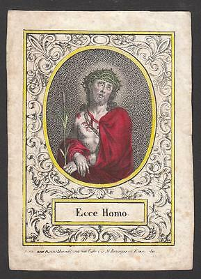 ECCE HOMO Andachtsbild 19.Jh. Santino Antique Holy Card