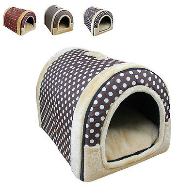 New Dog Cat Winter Warmer House Puppy Washable Indoor Nest Pets Portable Kennels