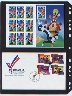 ANCHOR 50 Stock Pages 2S (2-Rows) for U.S / Canada FDCs,Cards (Black sheets)...