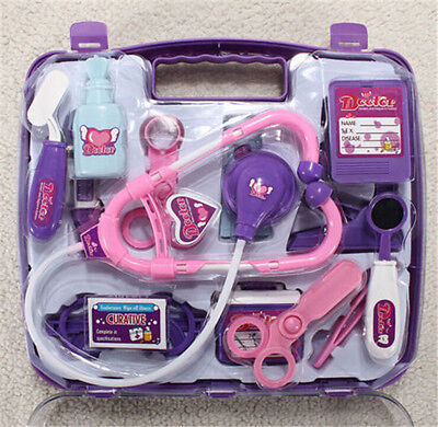FD3244 Pretended Doctor's Nurse Medical Carry Case Medical Kit Role Play toy☆