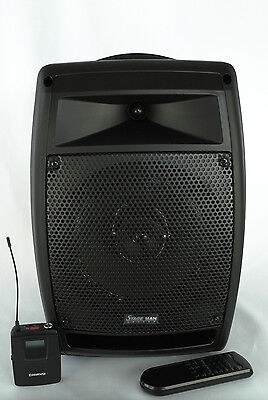 Chiayo StageMan portable PA with 1x wireless headset microphone, Cd player USB