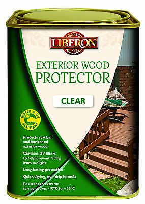 Liberon Exterior Wood Protector Clear Choice Of Size