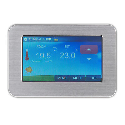 Electric underfloor heating Colour touch screen thermostat digital 24/7