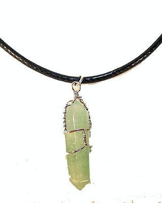 JADE STONE WIRE WRAPPED NECKLACE mens womens health healing JL517 NEW  stones