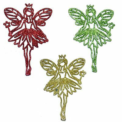 3Pcs Glitter Angel Christmas Tree Decoration Xmas Party Hanging Ornament Decor