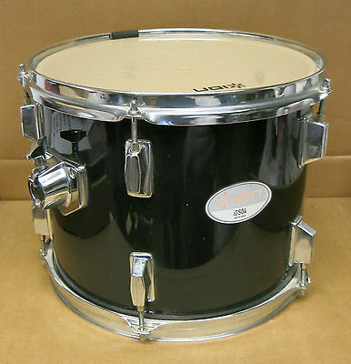 "Ion Audio iDS04 Mid Tom Drum 12"" x 10"" Black & Chrome With 10 Lugs"