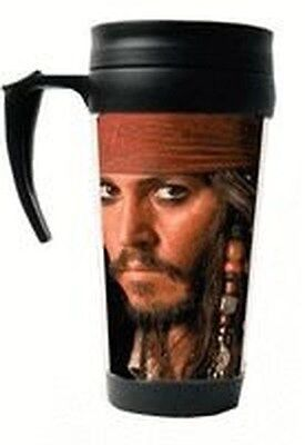 Jack Sparrow With Pistol Travel Mug Pirates of The Caribbean Johnny Depp