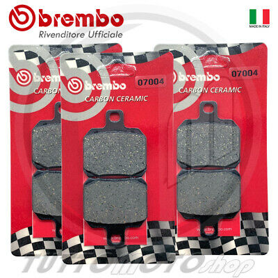 Pastiglie Freno Brembo Carbon Piaggio Beverly 500 2002 2003 2004 2005 Ant+ Post.