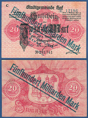 HOF 500 Milliarden Mark  6.11.1923  Erh III- / VF-